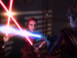 Duel at the Jedi Temple