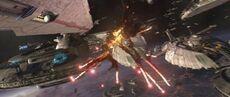 DestroyedMunificent-class star frigate
