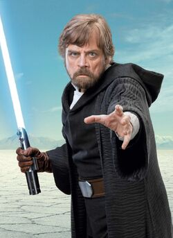 Luke Skywalker on Crait Promo Shot