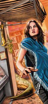 Jaina in the market - Getaway