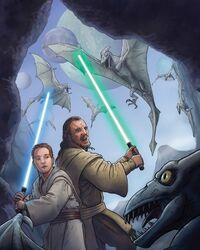 Jinn and Kenobi versus draigons