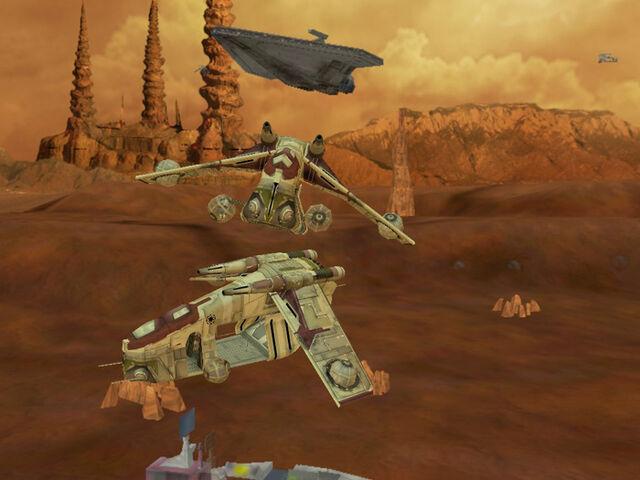 File:Two Republic gunships in Star Wars Battlefront.jpg