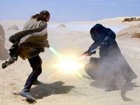 Jinn Maul Tatooine duel TPM