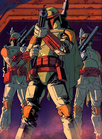 Mandalorians led by Boba Fett