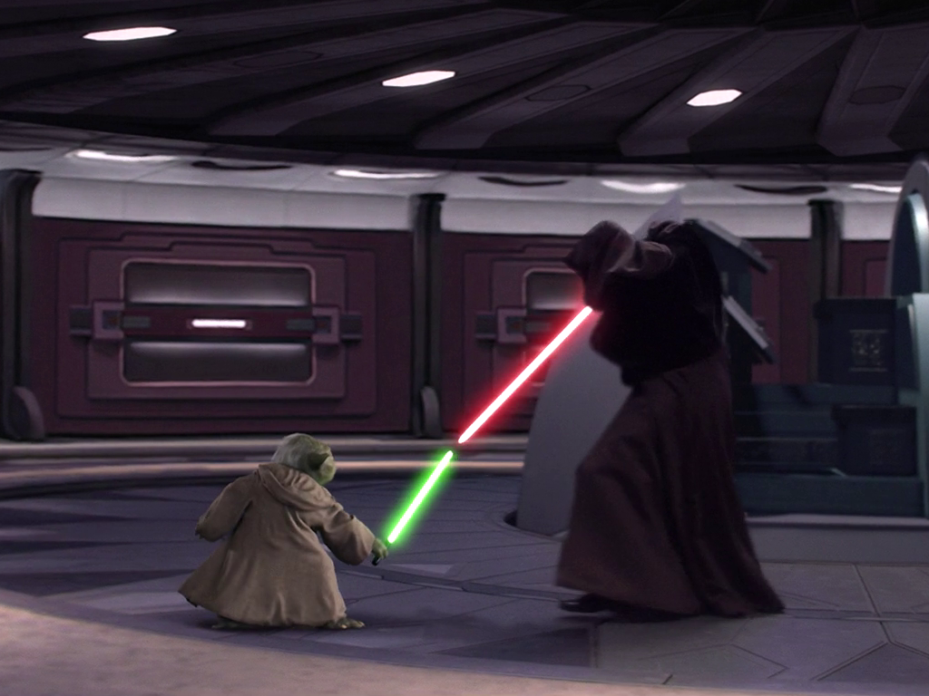 Image result for yoda vs palpatine
