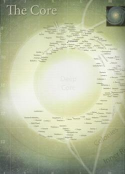 Mapa Galaktického jádra