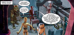 EV-9D9 droid assessment room