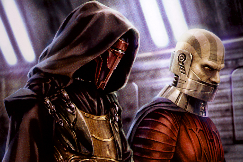 Darth Revan and Darth Malak, Dark Lords of the Sith, Star Wars.