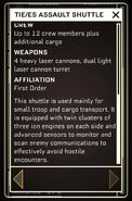 TIE-es Assault Shuttle - Datapad 2