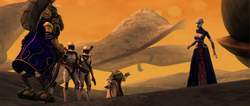 Yoda confronts Ventress