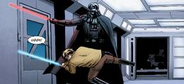Vader bests luke