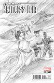 Princess Leia 1 Alex Ross Sketch Variant Cover