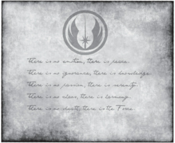 Jedi Code-Backstories