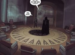 High Council Chamber Darth Vader
