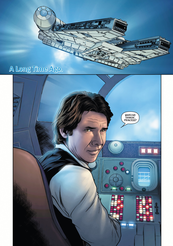 Star Wars Last Jedi S2 Blue Base Card #15 The Curious Porgs