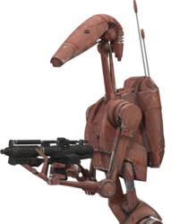 Rust brown B1 battle droid
