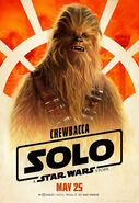 Solo A Star Wars Story Chewbacca character poster 2