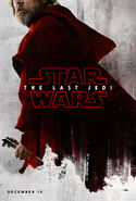 Mark Hammil Luke Skywalker The Last Jedi Teaser Poster
