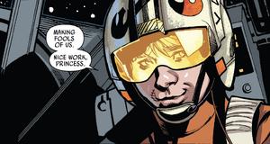 Luke watches Leia escape