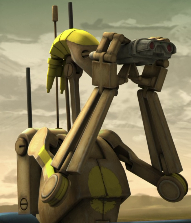 Star Wars Clone Wars Battle Droid Tan Black Stripes
