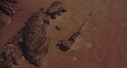 Jedha fallen statue
