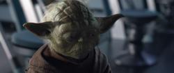 Yoda tijdens het overlijden van Padme