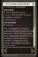 T-70 X-wing Starfighter - Datapad 3