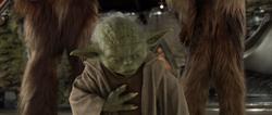 Yoda voelt de Great Jedi Purge