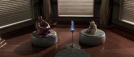 Mace Yoda holo