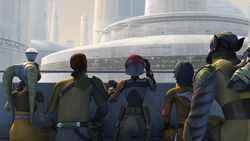 Rebels at Lothal Senate Building