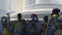 Rebels at Lothal Senate Building