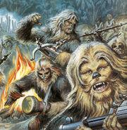 Wookiee warrior dance