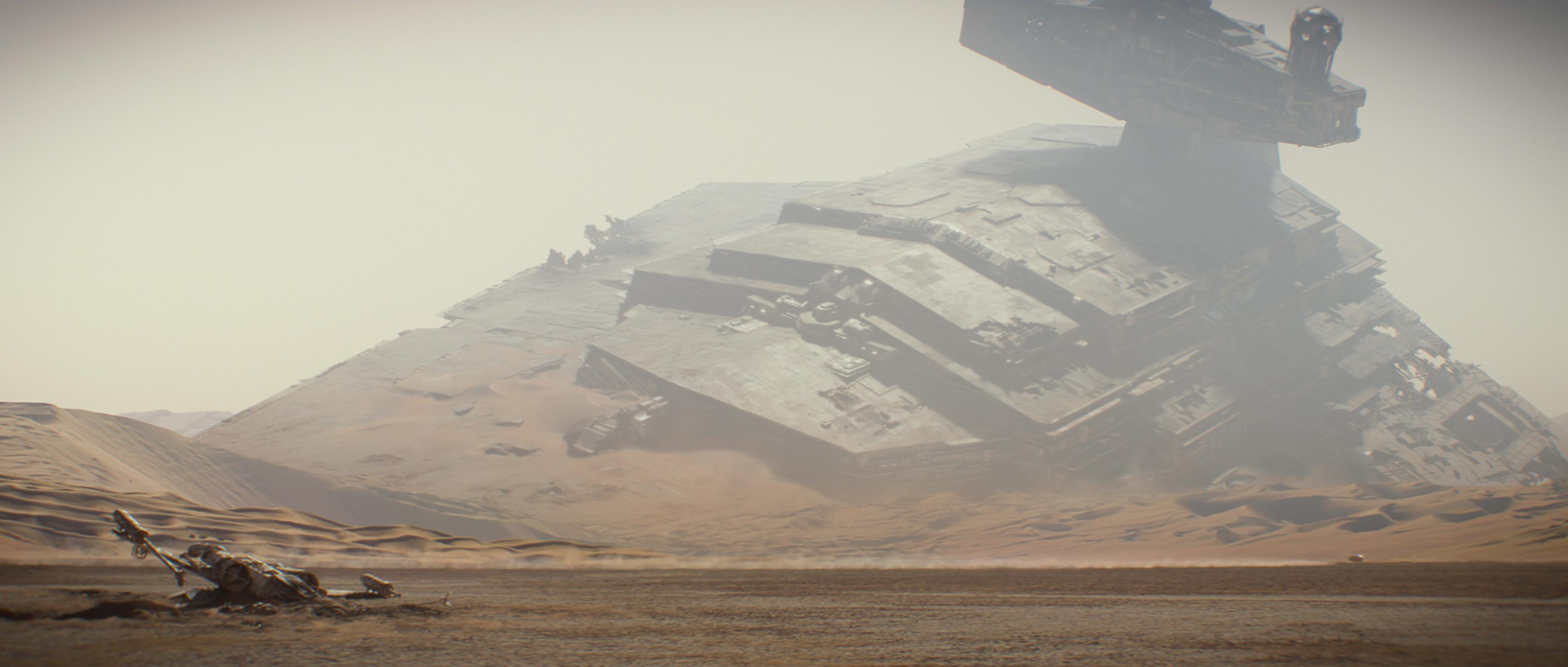 Image result for Crashed star destroyer Rey