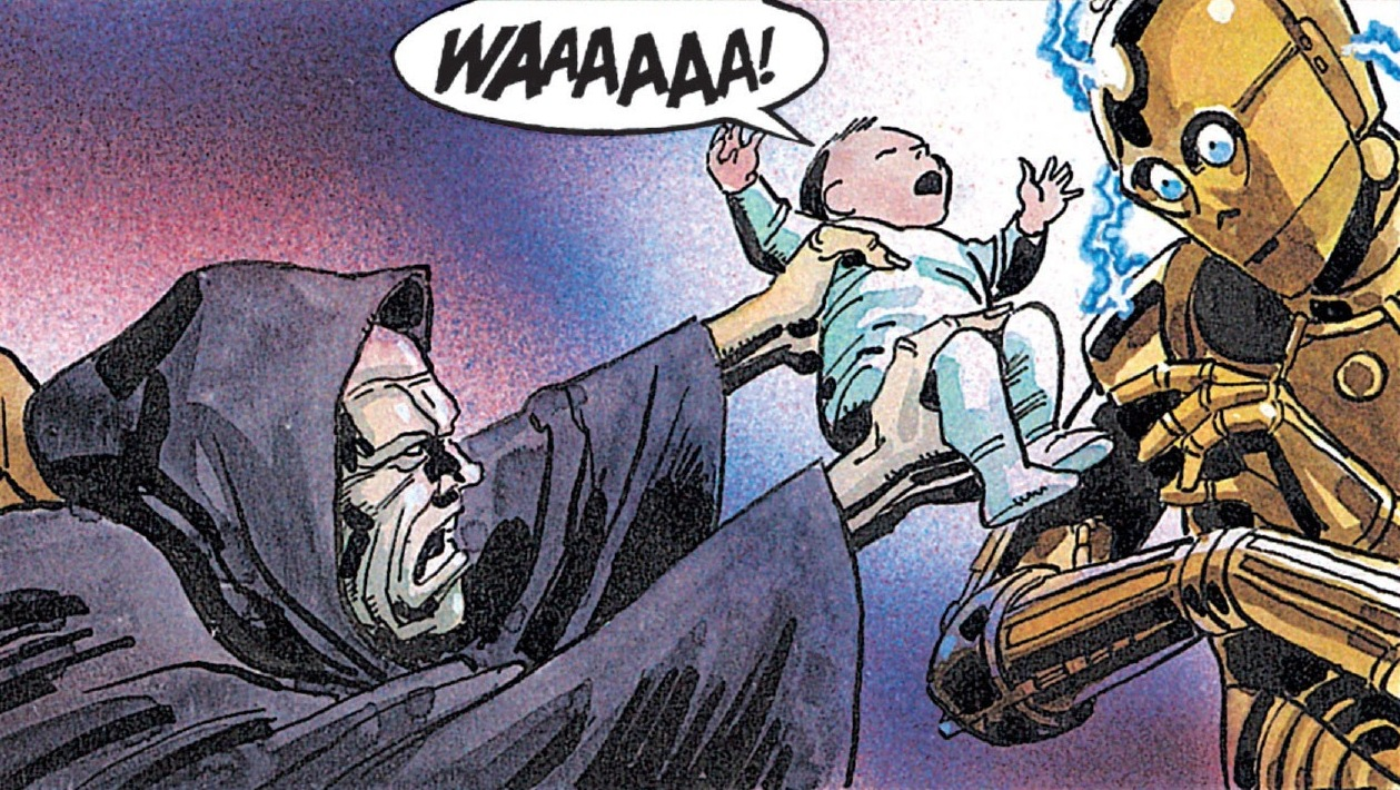 Sidious tries to take Anakin Solo
