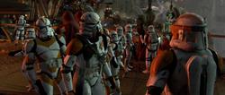 Cody tegen een Clone paratrooper