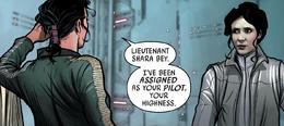 Shara Bey meets Leia Organa