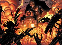Bt burns the droids