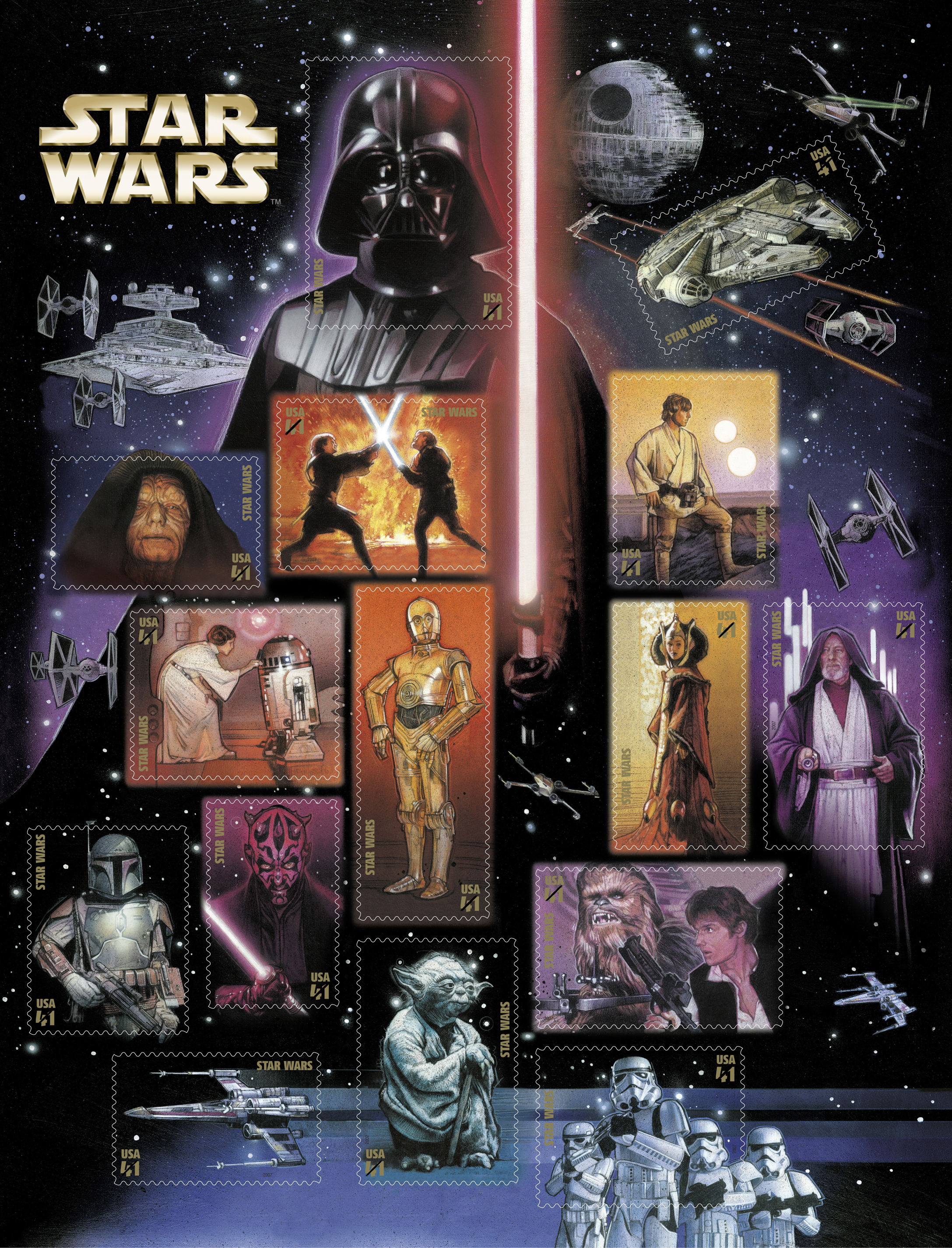 Star Wars Australian Postage Stamp Sheet Attack of the Clones