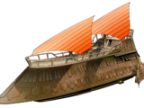 Luxury-class sail barge