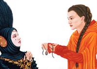 Amidala lends her amulet to Sabe