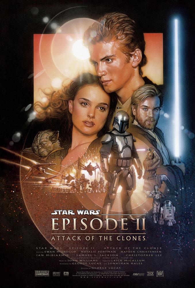 """Star Wars Attack of the Clones Anakin Skywalker 9"""" SPEEDER wi Crash Effects 2002"""