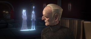 Informing Palpatine of Tups death