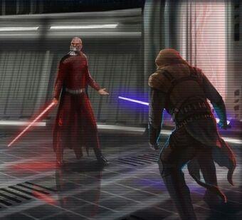Revan vs. Malak, the final battle Star Wars