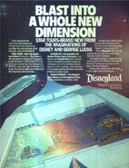 Star Tours DL print ad