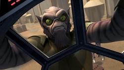 Zeb hijacks a TIE fighter