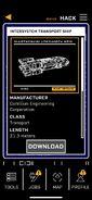 Intersystem Transport Ship-Datapad