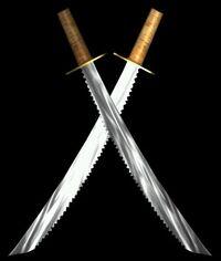 Jar-Kai dueling sabers