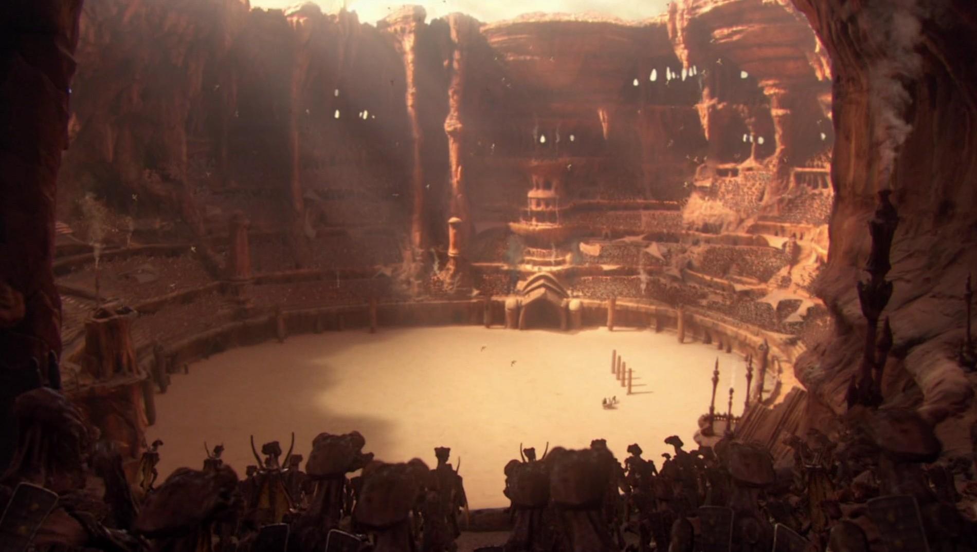 Resultado de imagem para star wars episode 2 stadium