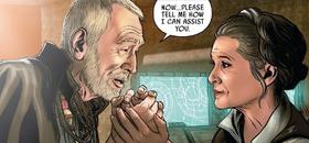 Lor San Tekka and Leia
