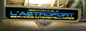 Astroport Interstellar Services sign